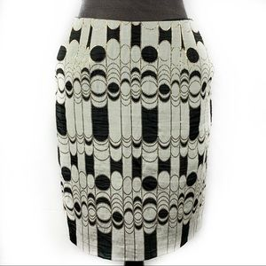 Trina Turk Geometric Print Mid Length Pencil Skirt
